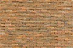 Brick wall. Orange brick wall at home Stock Photography