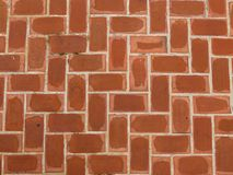 Brick Wall, Orange That is the pathway. Stock Photos