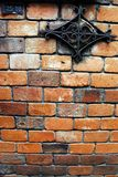 Brick wall ornament Stock Photos