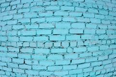 Brick wall. The brick wall painted in blue stock image