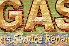 Brick Wall with Painted Letters Royalty Free Stock Photos