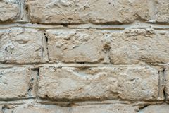 The brick wall is painted Royalty Free Stock Image