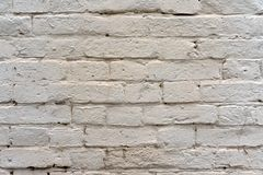 Brick wall painted with white paint as background and texture royalty free stock image