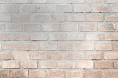Brick wall in pale color. Decors in a coffee shop Stock Images