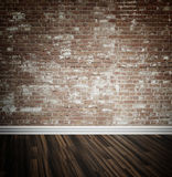 Brick wall and parquet floor background Stock Photos