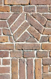 Old brick wall design closeup Royalty Free Stock Photo