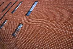 Brick wall pattern. Picture of one of the sides of a brick building Royalty Free Stock Photo