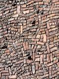 Brick wall pattern background. Brick wall in an unconventional pattern Royalty Free Stock Photography