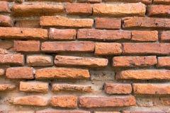 Brick wall. Pattern of old brick wall background stock photos