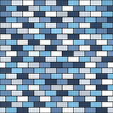 Brick wall pattern. Seamless vector rectangle background Royalty Free Stock Photos
