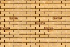 Brick wall pattern. Stylish light brown brick wall pattern background. seamless tiling Stock Image