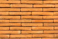 Brick wall. Pattern of surface brick wall orange Stock Image