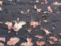 Brick wall peeling paint background or texture Stock Photo