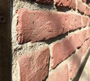 Brick wall perspective clolseup texture background concept vintage abstract. Texture Royalty Free Stock Image