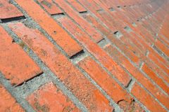 Brick wall in in perspective Royalty Free Stock Photo
