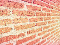 Brick wall perspective with filter effect Royalty Free Stock Images