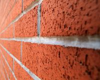 Brick wall perspective image royalty free stock photos