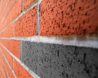 Brick wall perspective image Royalty Free Stock Image