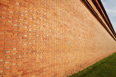 Brick wall in perspective Royalty Free Stock Images