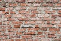 Brick wall. Photo of brick wall built by man Royalty Free Stock Image
