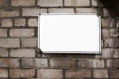 Brick wall plate Stock Photography