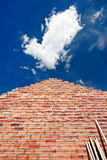 A brick wall pointing to the sky Royalty Free Stock Photography