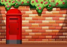 Brick wall and post box Stock Photography