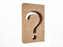 Brick Wall with Question Mark Royalty Free Stock Photography