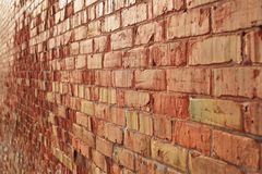 Brick wall receding Stock Photos