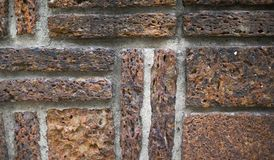 Brick wall. Red Background of old vintage brick Wall texture Royalty Free Stock Photography