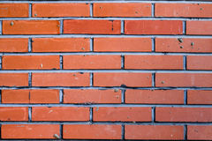Brick wall. Red brick wall for backround or texture royalty free stock photos