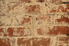 Brick wall of red brick  background Royalty Free Stock Photo