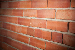 Brick wall red brick. Brick wall of red brick in the future Stock Photography