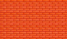 Brick wall red color for background Royalty Free Stock Images