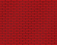 Brick wall of red color or brick background Stock Photography