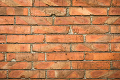 Brick wall. Red color old brick wall Royalty Free Stock Photos