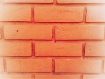 Brick wall of red color, wide panorama stock images