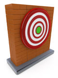 Brick wall and Red darts target aim Royalty Free Stock Image