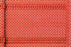 Brick wall. Red brick wall with brick decorative frame Royalty Free Stock Image