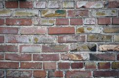 Brick wall. Red brick wall. Fragment. Outdoors Stock Images
