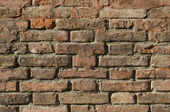 Brick Wall. Red brick wall, full frame Royalty Free Stock Photos