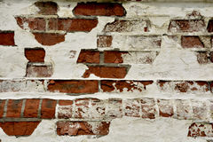 Brick wall. Red brick wall in the old days royalty free stock photos