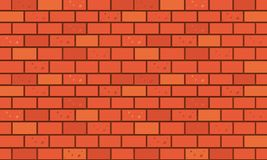 Brick wall, Red orange bricks wall texture background for graphic design, Vector vector illustration