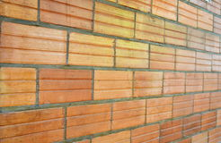 Brick wall. Red brick wall seamless Vector illustration background - texture pattern for continuous replicate Royalty Free Stock Photography