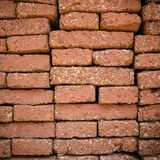 Brick wall. Red brick wall texture background Stock Photo