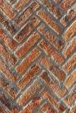 Brick wall. Red  texture. Herringbone (V-shaped pattern) Royalty Free Stock Photos