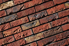 Brick wall red with yellow Stock Photography