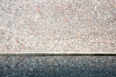 Brick wall reflection Stock Photo