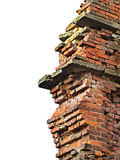 Brick wall remains Stock Image