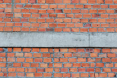 Brick wall in residential building construction stock images